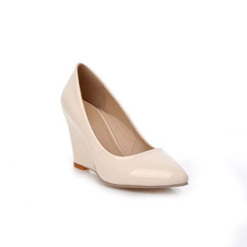SDC05524 Compensées 36 Blanc 5 Blanc Femme Sandales EU AdeeSu avOCv