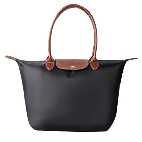 (ZTOZ laptop Tote Bag, Fits 15.6 Inch Laptop, women's stylish waterproof Tote Bag/Nylon Travel Shoulder Handbag)