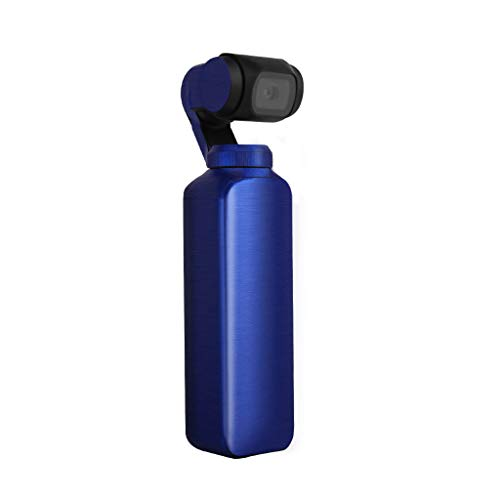 (Drone Stickers for DJI OSMO Pocket, Elevin(TM) Luxury Metallic Color Skin Waterproof PVC Stickers Body Decals for DJI OSMO Pocket (Blue))
