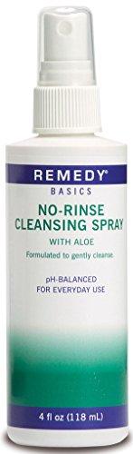 Medline MSC092SCSW04H Remedy Basics No-Rinse Cleansing Spray, 4oz.