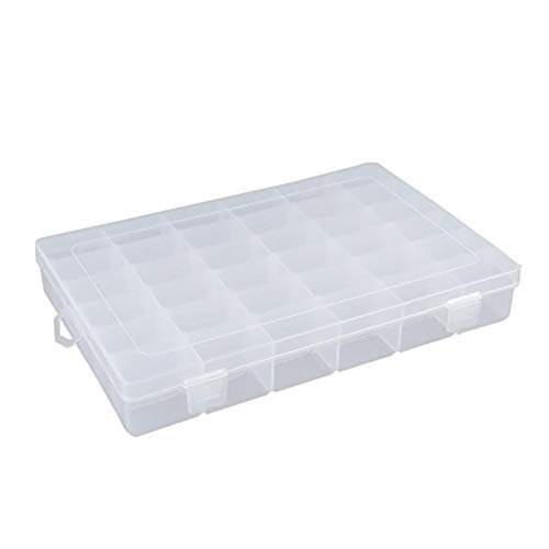 Cherry-Lee Adjustable 36 Grid Compartments Plastic Jewelry Bead Organizer Box Removable Storage Container Sort Case for Portable Earring Ring Case Home Medical Candy Organizer Seeds Craft Making from Cherry-Lee