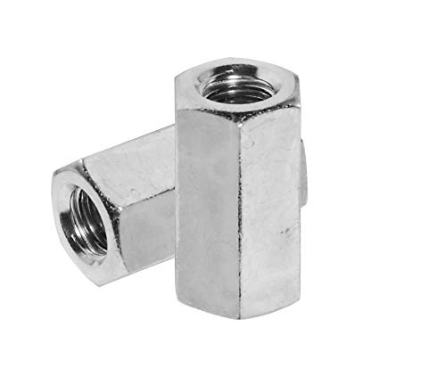 Karcy 50pcs M8x30mm 304 Stainless Steel Hex Female Thread Coupling Nut ()