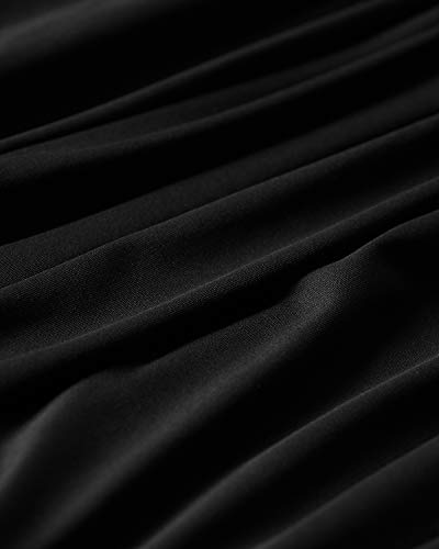 YOINS a pieghe senza maniche Nero-01 XL canotta da donna senza spalline