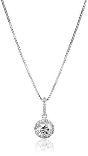 platinum-over-sterling-silver-vg-moissanite-framed-round-pendant-necklace-18