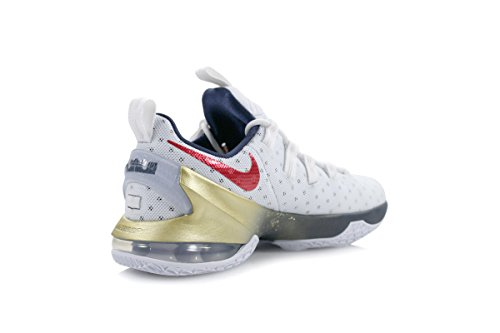 de Blanco XIII Ball University Espadrilles Red Lebron White Nike Homme Low obsidian Basket q4AwIB85