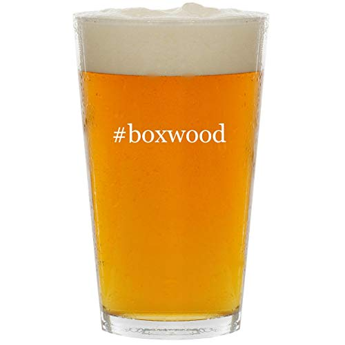 - #boxwood - Glass Hashtag 16oz Beer Pint