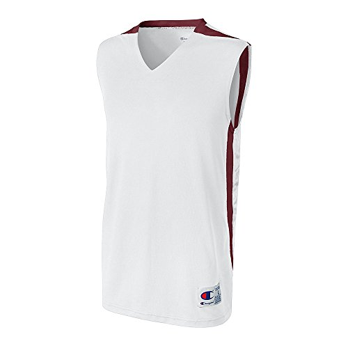Champion Men`s and Youth Supreme Basketball Jersey White/Maroon