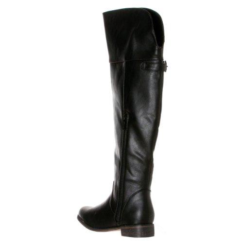Boots Breckelle's Women's 'Rider Round Riding Black 24' Buckle Toe O0OaTx