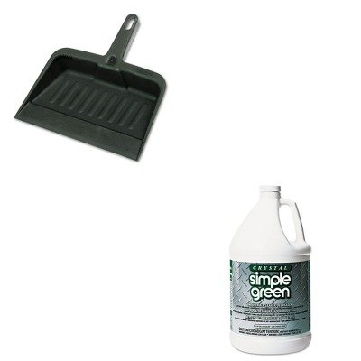 KITRCP2005CHASPG19128 - Value Kit - Simple Green All-Purpose Industrial Cleaner/Degreaser (SPG19128) and Rubbermaid-Chrome Heavy Duty Dust Pan (RCP2005CHA) by Simple Green