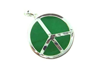 Amazon green jade world peace pendant 925 sterling silver jewelry green jade world peace pendant 925 sterling silver aloadofball Image collections