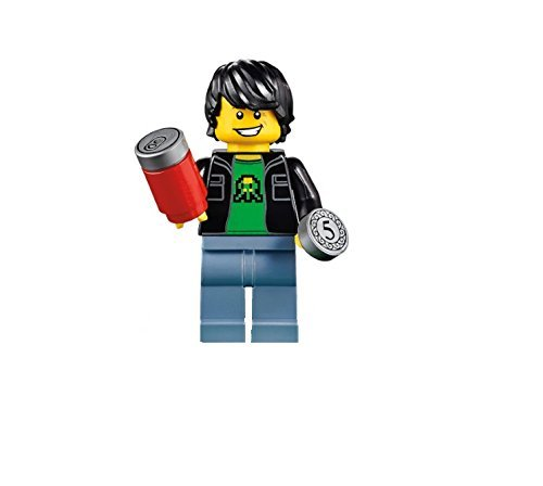 LEGO Midway Arcade Minifigure - Retro Gamer Kid with Soda and Coin (71235)