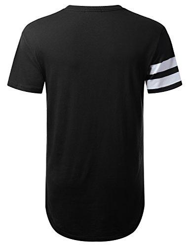 URBANTOPS Mens Hipster Hip Hop City Graphic Longline T-Shirt (Various Styles) 2