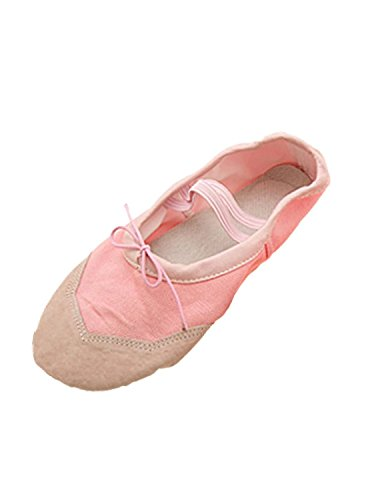 Deal Mux Girls Soft Pink Ballet Dance Dancing Shoes UK 4.5 7py7B49WD