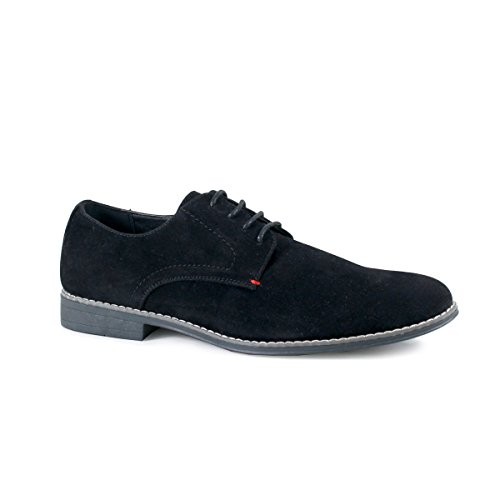Arider COOPER-02 Men's Low Top Casual Suede Shoes - BLACK-11