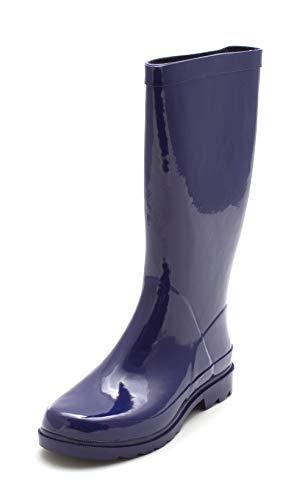 London Fog Womens Jasper Closed Toe Mid-Calf Rainboots, Blue, Size 6.0