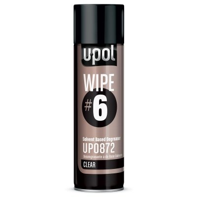 U-POL 0872 Wipe#6 Solvent Based Degreaser, Clear, 450 ml Aerosol