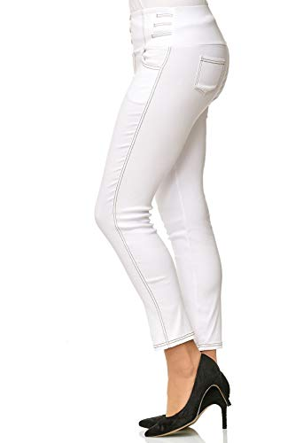 Dimensione Vita D2490 Tubo Plus Noname Pantaloni Bianco Donne Jeans Alta Treggings Corsetti UwxOEqzB