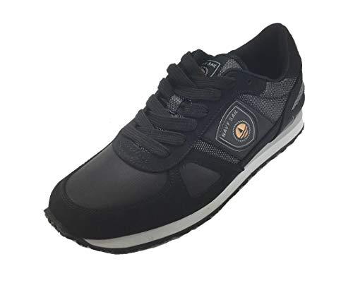 Sail Casual Uomo Scarpa Sneakers Gomma NAVIGARE 3050 Man by Navy Nero Fondo nRqO0Sx