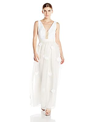 Samantha Sleeper Women's V-Neck Embroidered Bridal Gown