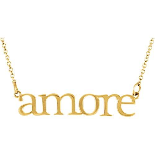 Bonyak Jewelry 14k Yellow Gold Amore 16.25