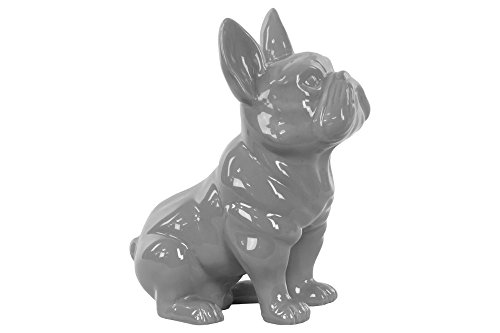 Benzara Striking Sitting French Bulldog Figurine with Pricked (French Bulldog Collectibles)
