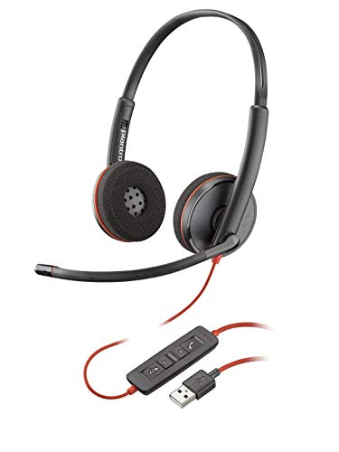 [해외]Plantronics Blackwire 3220 USB-A Headset On-Ear Mono Headset Wired (Renewed) / Plantronics Blackwire 3220 USB-A Headset, On-Ear Mono Headset, Wired (Renewed)