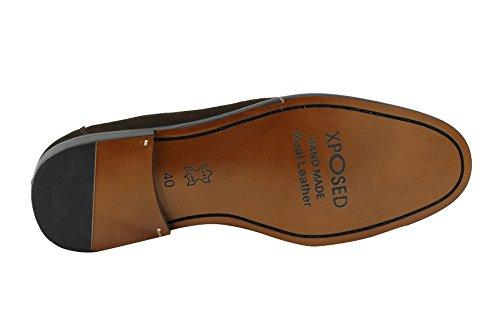 Herren Braun Echt Wildleder Quaste rutschfest auf klassischen Vintage Smart Schuhe