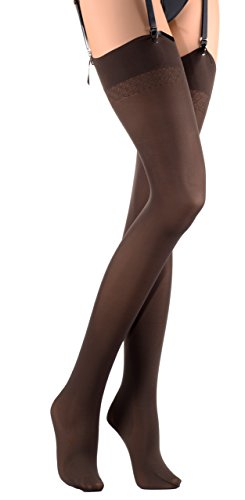 - Sandra 70 Den Opaque Stockings Color: Marrone Size: 4 (X-Large)