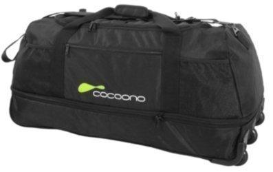 Reisetasche - Sporttasche mit 3 Rollen - nur 2 kg - schwarz - Dehnfalte - Volumen bis 136 Liter! - extrem klein zusammenlegbar