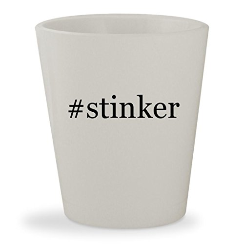 #stinker - White Hashtag Ceramic 1.5oz Shot Glass (Lil Game Stinker)