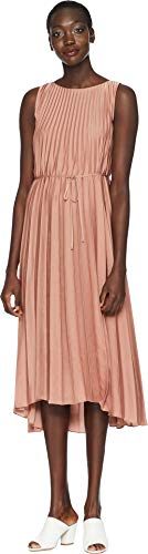 Pleated Vince Dress (Vince Women's Pleated Dress, Vintage Rose, Small)