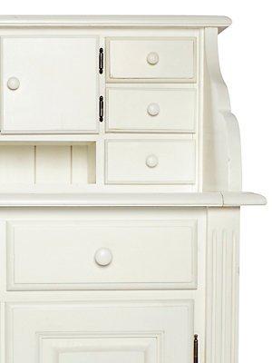 Heine Home Unisex Sekretär Weiß Türen Abschließbar Amazonde Küche