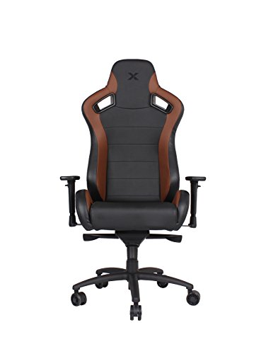 Lifestyle Carbon (Carbon Line Brown on Black Sleek Design Gaming & Lifestyle Chair by RapidX)