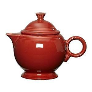 Fiesta 44-ounce Covered Teapot, Scarlet