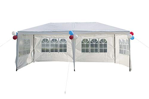 GOJOOASIS Improved Version Wedding Canopy Party Tent with Metal Connectors Outdoor Gazebo 10'x20' w/ 4 Walls ()