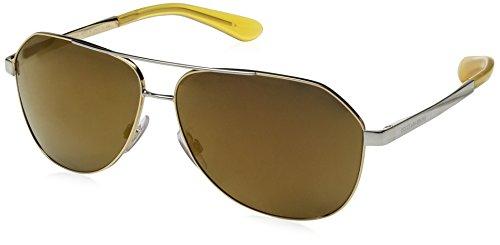 Dolce & Gabbana Women's Sicilian Taste Non-Polarized Iridium Aviator Sunglasses, Gold, 61 - Sunglasses Flower Gold Dolce And Gabbana