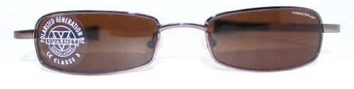 Vuarnet Men's Women's 172 Brown Metal Rectangular Polarized Sunglasses - Store Vuarnet