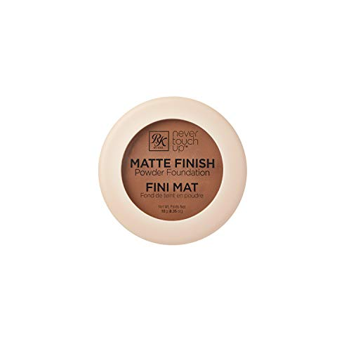 Ruby Kisses Never Touch Up Matte Finish Powder Foundation 0.35oz - Cognac
