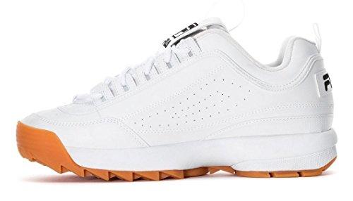 Uomo White Leather Disruptor Fila white Ii black Formatori dXROwBx