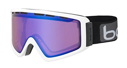 Bolle Z5 Otg Shiny White Modulator 2.0 Vermillion Blue NXT Googles, Vermillion Gun, One - Vermillion Goggles Bolle Modulator Ski