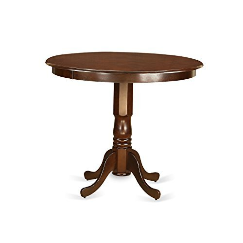 East West Furniture TRT-MAH-TP Mahogany Trenton Counter Height Kitchen Table