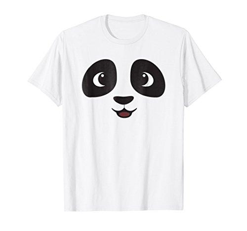 (Panda Face T Shirt Cute Halloween Costume Idea Trick)