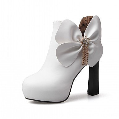 Shoes Boots Round Comfort UK4 Pu Chunky 5 EU37 Boots 7 Novelty Flower Ankle CN37 Fall RTRY Leatherette 5 Winter US6 Heel Boots Fashion 5 Toe Rhinestone Women'S Booties zfqYxOw5