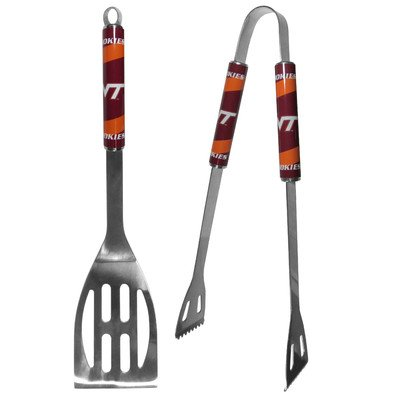 NCAA Virginia Tech Hokies Steel BBQ Tool Set (2 Piece)