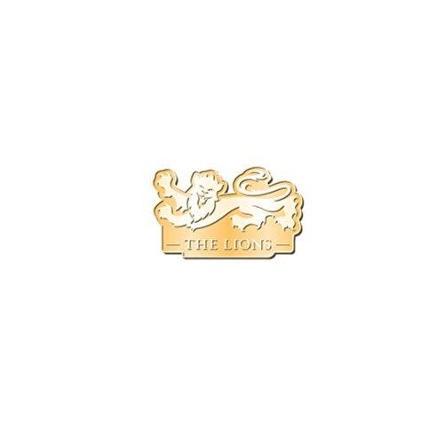 Brand Co. Official British & Irish Lions Rugby Logo Pin Badge [Dark Gold]
