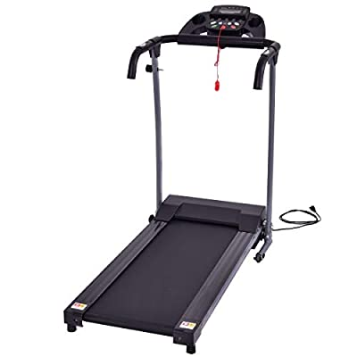 Gymax Folding Fitness Exercise Treadmill Electric Motorized Power Fitness Running Machine 800W W/IPAD Mobile Phone Holder (Black)