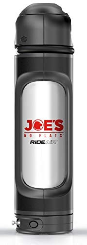 Carrying it on The Bicycle Using The Standard Bottles cage Inflate Bicycle Tires at a Push of a Button refillable Multi-use Portable air Capsule for tubeless Users Joes RideAir with Lock