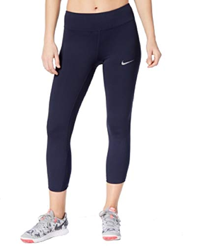 Nike Power Epic Lux Cropped Running Leggings (Obsidian, XS)