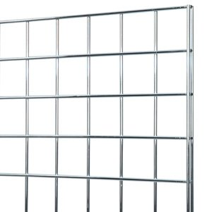 Chrome grid panel 2x4 by Firefly Store Solutions