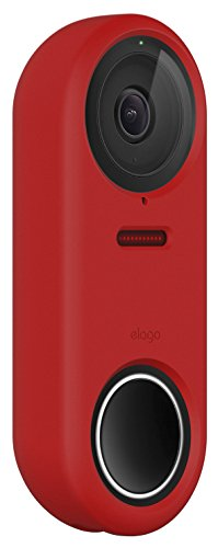 elago Nest Hello Case [Red] - [Full Cover Protection][Night Vision Compatible] [Durable Material] [UV Light Resistant][Easy Installation][Patent Pending]